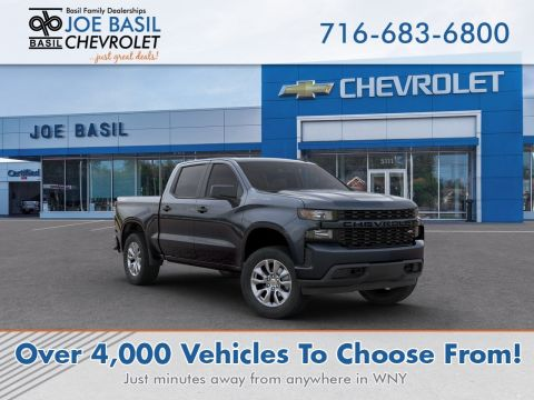New 2020 Chevrolet Silverado 1500 Custom Crew Cab Pickup 4WD